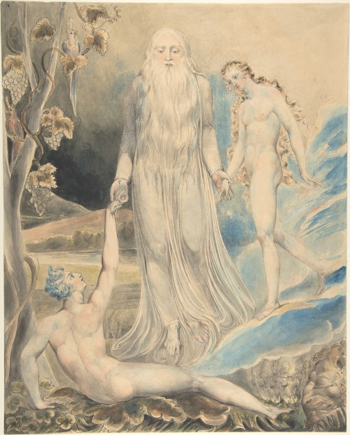 Angel_of_the_Divine_Presence_Bringing_Eve_to_Adam_(The_Creation_of_Eve-__And_She_Shall_be_Called_Woman)_(recto);_Sketch_for_the_same_(verso)_MET_DP805381