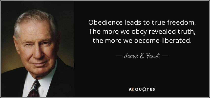 Faust obediencce leads to freedom